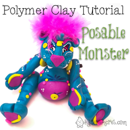 Polymer Clay Tutorial: Posable Monster Doll by KatersAcres