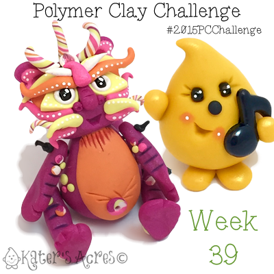 2015 Polymer Clay Challenge, Week 39 by KatersAcres | #2015PCChallenge