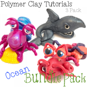 OCEAN Animal Tutorials for Polymer Clay, PDF Bundle Pack of 3 Under Water Figurine Tutorials from KatersAcres