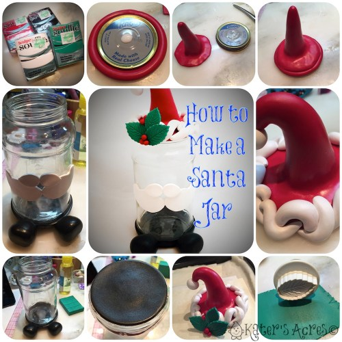 Polymer Clay Step-by-Step Tutorial to Turn a Glass Jar into a Christmas Santa Jar --- November Pavelka Project Challenge | Decorate a Jar
