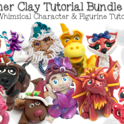 28 Whimsical Sculpting Tutorials for Polymer Clay by KatersAcres