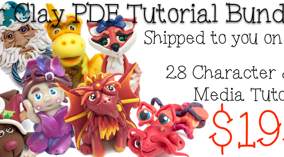 Polymer Clay Tutorials PDF Bundle Pack of 28 Tutorials from KatersAcres | 2015 Parker's Clayful Tutorial Club Member Tutorials Bundle Pack