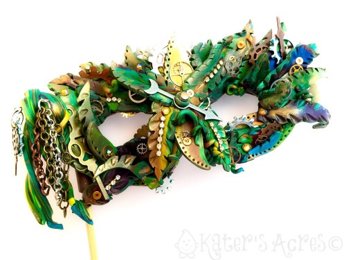 """JunglePunk"" Polymer Clay Mask by Katie Oskin of KatersAcres 