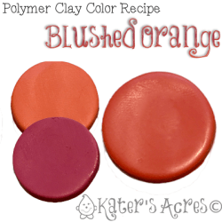 Polymer Clay Color Recipe for Blushed Orange