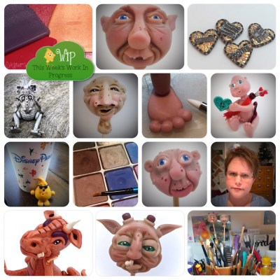 WIP Wednesday in KatersAcres Polymer Clay Studio | CLICK for tutorial links, freebies, & polymer clay fun