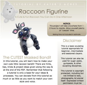 KatersAcres Polymer Clay Raccoon Figurine Tutorial PREVIEW