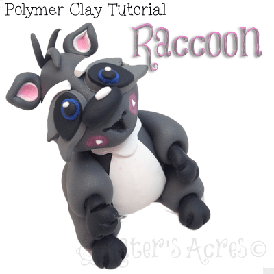 Polymer Clay Racoon Tutorial by KatersAcres