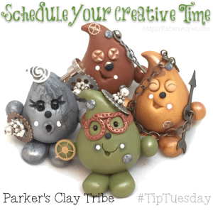 Polymer Clay Tip: Try Scheduling Your Working Studio Hours | CLICK to read more