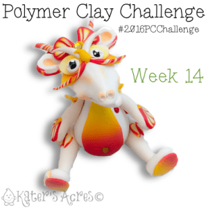 2016 Polymer Clay Challenge, Week 14 Dragon by KatersAcres