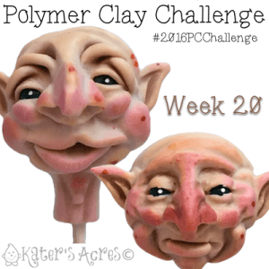 2016 Polymer Clay Challenge, Week 20 Polymer Clay Face Sculptures by KatersAcres | #2016PCChallenge