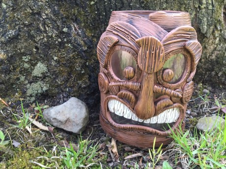 Polymer Clay Tiki Face Porch Light Tutorial by KatersAcres