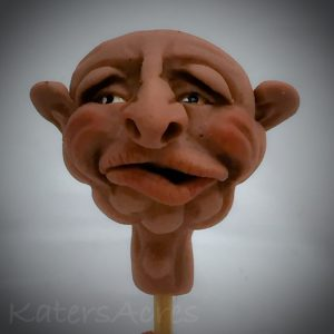 Polymer Clay WIZARD Face Sculpture by KatersAcres