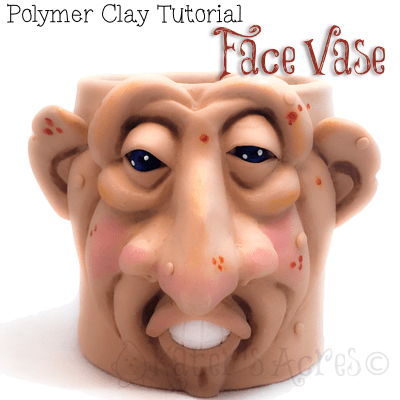 Polymer Clay Face Vase Tutorial by KatersAcres