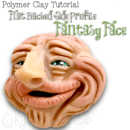 Polymer Clay Side Profile Fantasy Face Tutorial by KatersAcres