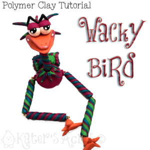 Polymer Clay WaCkY BiRd Tutorial by KatersAcres