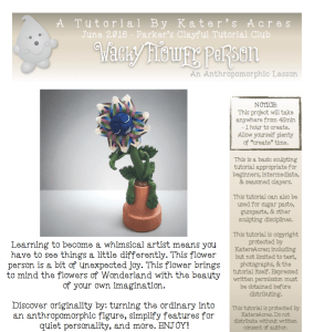 Polymer Clay WaCkY FLoWeR Tutorial by KatersAcres PREVIEW