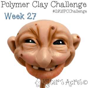 Hand Sculpted Fantasy Face by KatersAcres - Week 27 of the #2016PCChallenge