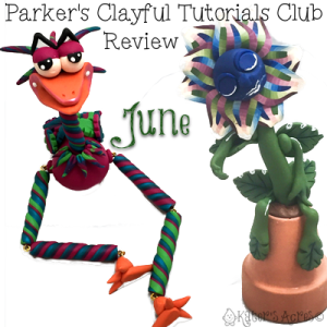 Parker's Clayful Tutorials Club - June 2016 Monthly Review | CLICK to Learn How You Can Save on Polymer Clay Tutorials