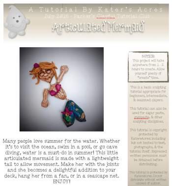 Polymer Clay Articulated Mermaid Tutorial by KatersAcres PREVIEW