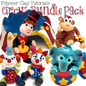 Polymer Clay Circus Tutorial BUNDLE Pack by KatersAcres