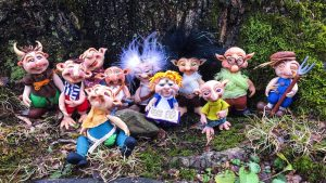 The 'Schrumes   Collectible, Handsculpted Elvish Troll Figurines by Katie Oskin