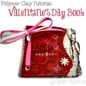 DIY Polymer Clay Valentine's Day Book Tutorial by KatersAcres | CLICK to learn how to make your own