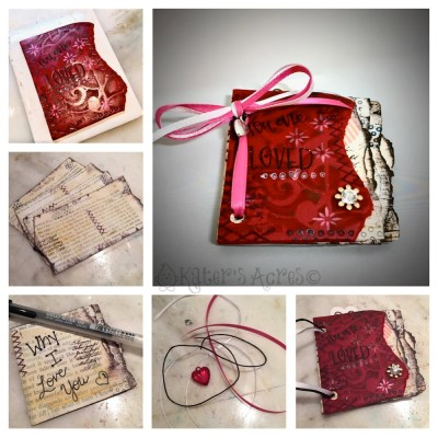 DIY Polymer Clay Valentine's Day Book Tutorial by KatersAcres   CLICK to learn how to make your own