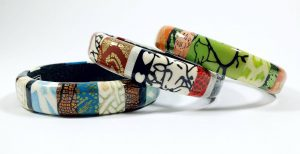 Bangles from Wendy Jorre de St Jorre | Made from Polymer Clay