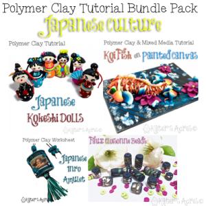 Polymer Clay JAPANESE Bundle Pack Tutorial by KatersAcres