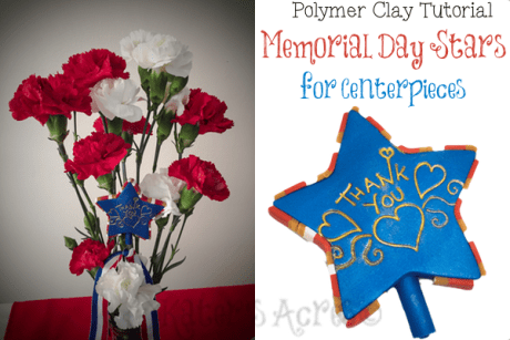 Memorial Day Polymer Clay Stars Tutorial by KatersAcres