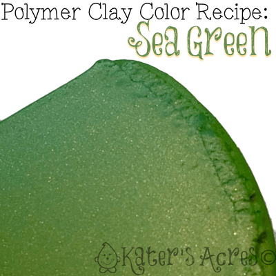 Polymer Clay Color Recipe for Sea Green by KatersAcres