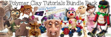30 Polymer Clay Sculpting Tutorials BUNDLE Pack