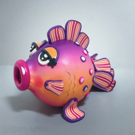 Polymer Clay PUFFED FISH Tutorial by KatersAcres
