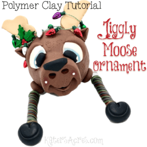 Polymer Clay Jiggly Moose Ornament Tutorial by KatersAcres