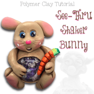 WSTC See-Thru Bunny Polymer Clay Tutorial by KatersAcres