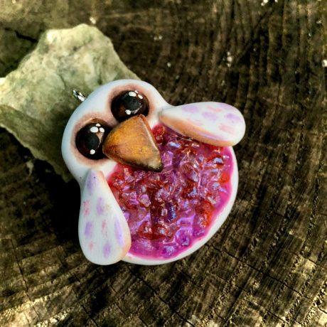 Faux Druzy Owl Pendant by KatersAcres