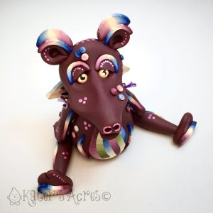Polymer Clay Dragon BEAUTY by Katie Oskin