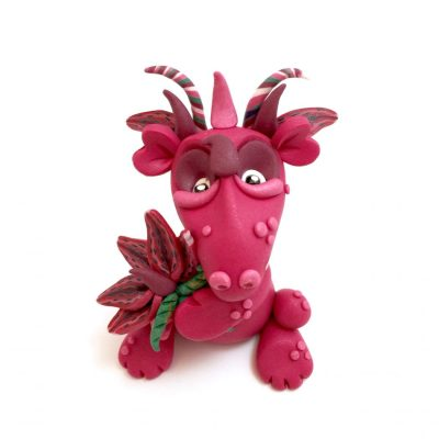 Stargazer Polymer Clay Dragon by Katie Oskin