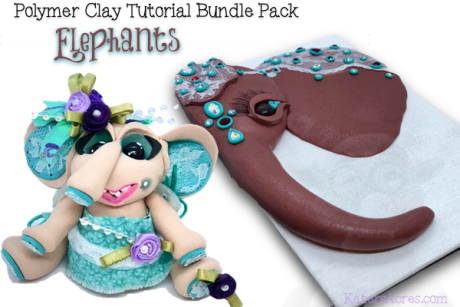 Polymer Clay Tutorials ELEPHANT BUNDLE PACK by KatersAcres