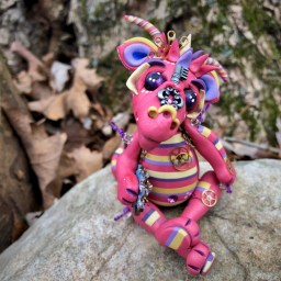 Punknys the Polymer Clay Dragon by Katie Oskin - MAIN