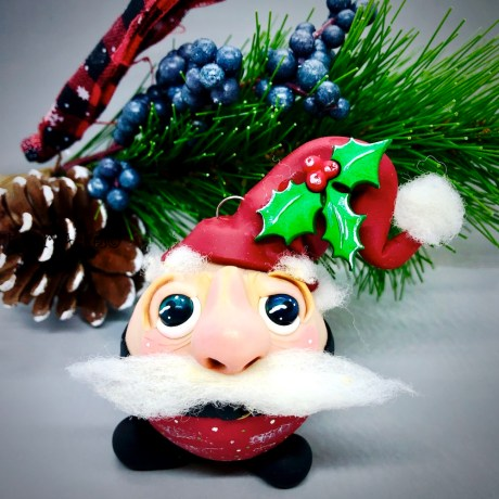 Roly Poly Santa by Katie Oskin