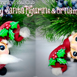WSTC Polymer Clay Tutorials Dec 2018 Roly Poly SANTA by KatersAcres