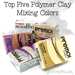 Top Five Polymer Clay Mixing Colors by KatersAcres