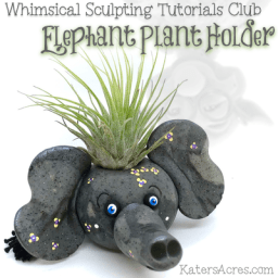Elephant Plant Holder by KatersAcres