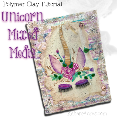 Unicorn Mixed Media Tutorial by KatersAcres