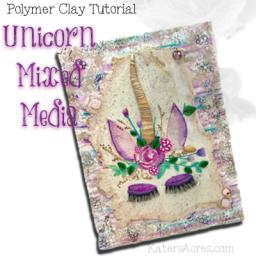 Unicorn Mixed Media Tutorial by KatersAcres