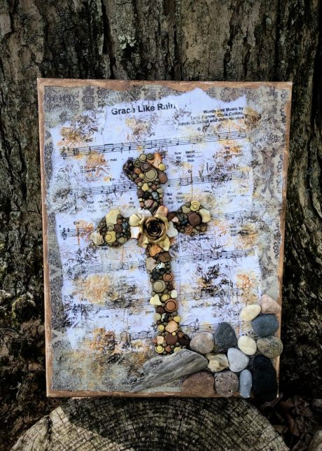 """""""Rock & Salvation Cross"""" from Psalm 62:6 