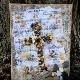"""Rock & Salvation Cross"" from Psalm 62:6 