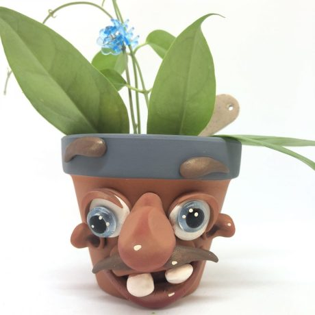 Goofy Sprouting Schrume Planter Pot by Katie Oskin of Kater's Acres