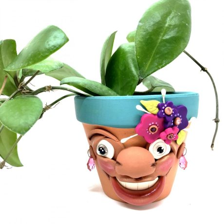 Flower Sprouting Schrume Planter Pot by KatersAcres